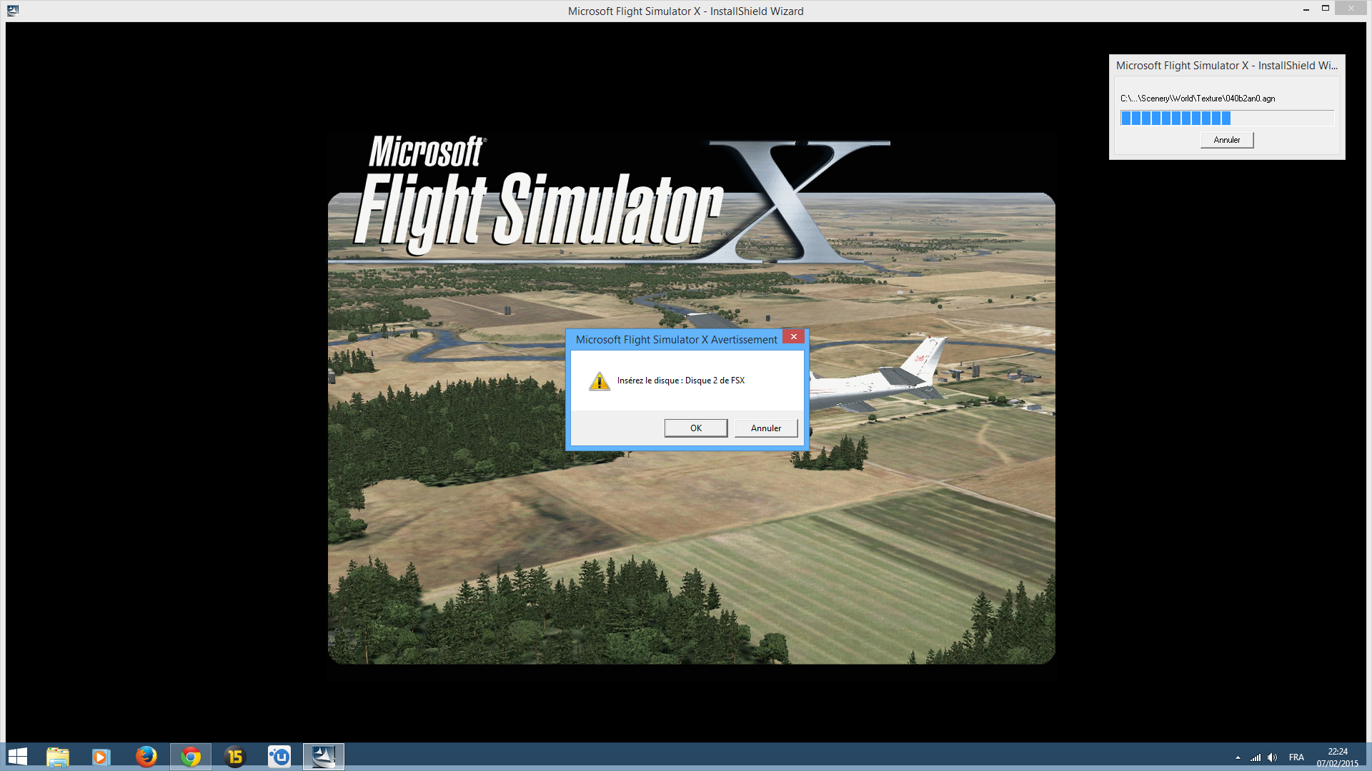FSX inserer le disque.png
