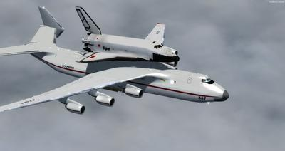 Antonov 225 Space Shuttle FSX P3D  6