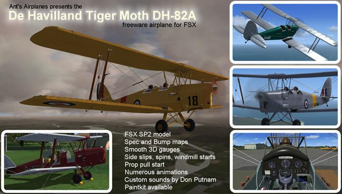 Мурахи De Havilland Tiger Moth Version 1.1 FSX