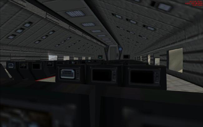 Interieur de la cabine