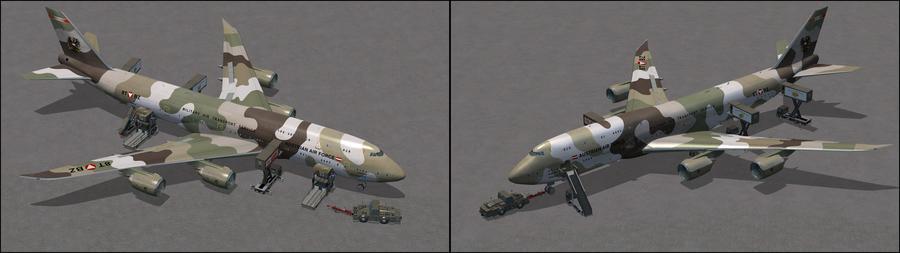 போயிங் 747 XXX AAF Camo XX