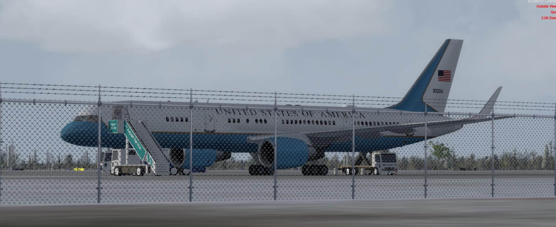 DOWNLOAD Boeing C-32 Air Force Two USAF FSX & P3D - Rikoooo