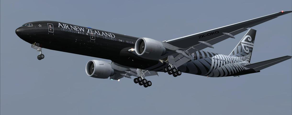 intro air new zealand package fsx p3d