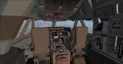 Boeing B747-215B Cockpit Virtual