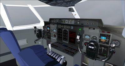 BAe Systems 146 200-Cockpit Virtual