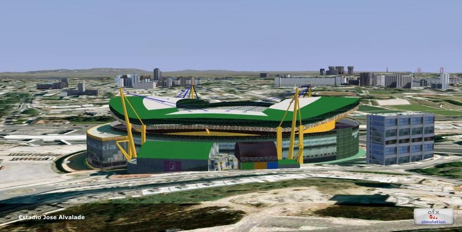 2ofx Lissabon stad landmerk 2014 FSX p3d