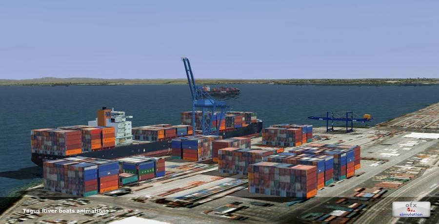 3ofx Lissabon stad landmerk 2014 FSX p3d