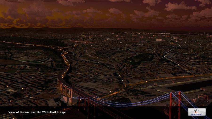 5ofx Лисабон градот обележје 2014 FSX p3d