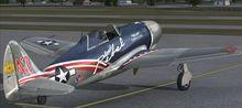 Republika XP 47J Escort FSX P3D  7