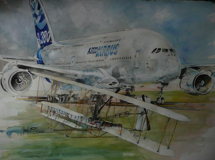 100 ans d'aviation - A380 - Flyers