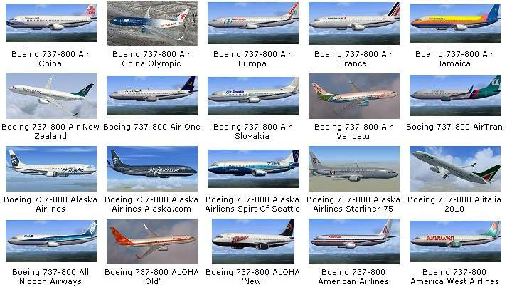 DOWNLOAD 164 Repaints Collection Pack for default B737-800 FSX & P3D