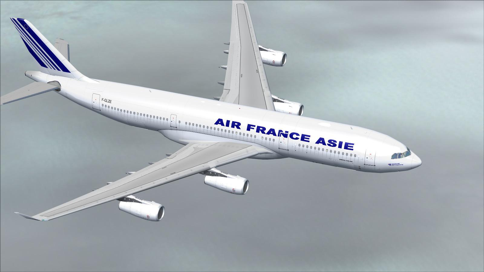 Image result for air france airbus a340 in flight