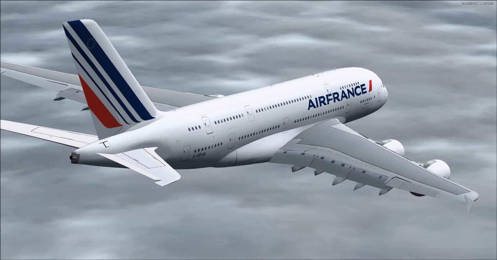 Download airbus a380 800 vc air france fsx p3d rikoooo for Interieur avion air france