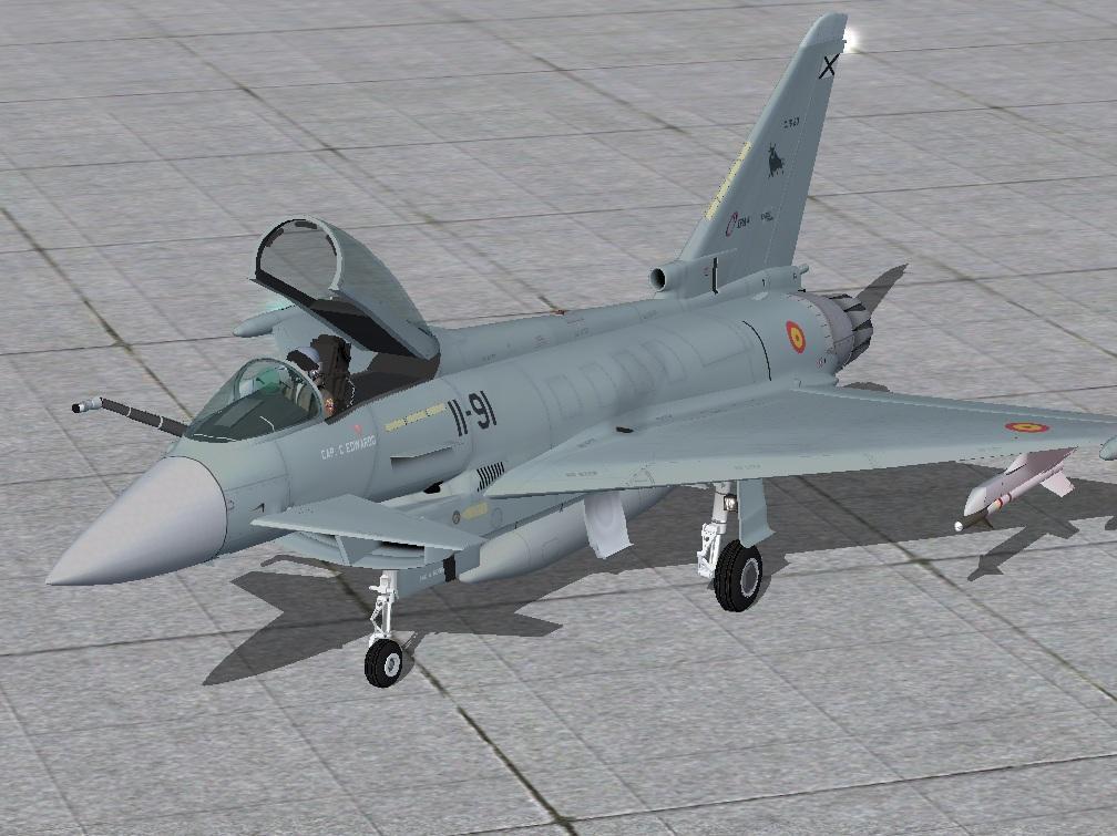 DOWNLOAD Eurofighter Typhoon AlphaSim FSX & P3D - Rikoooo