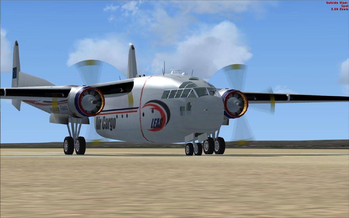 DOWNLOAD Fairchild C119 LEAS Air Cargo NAM FSX - Rikoooo