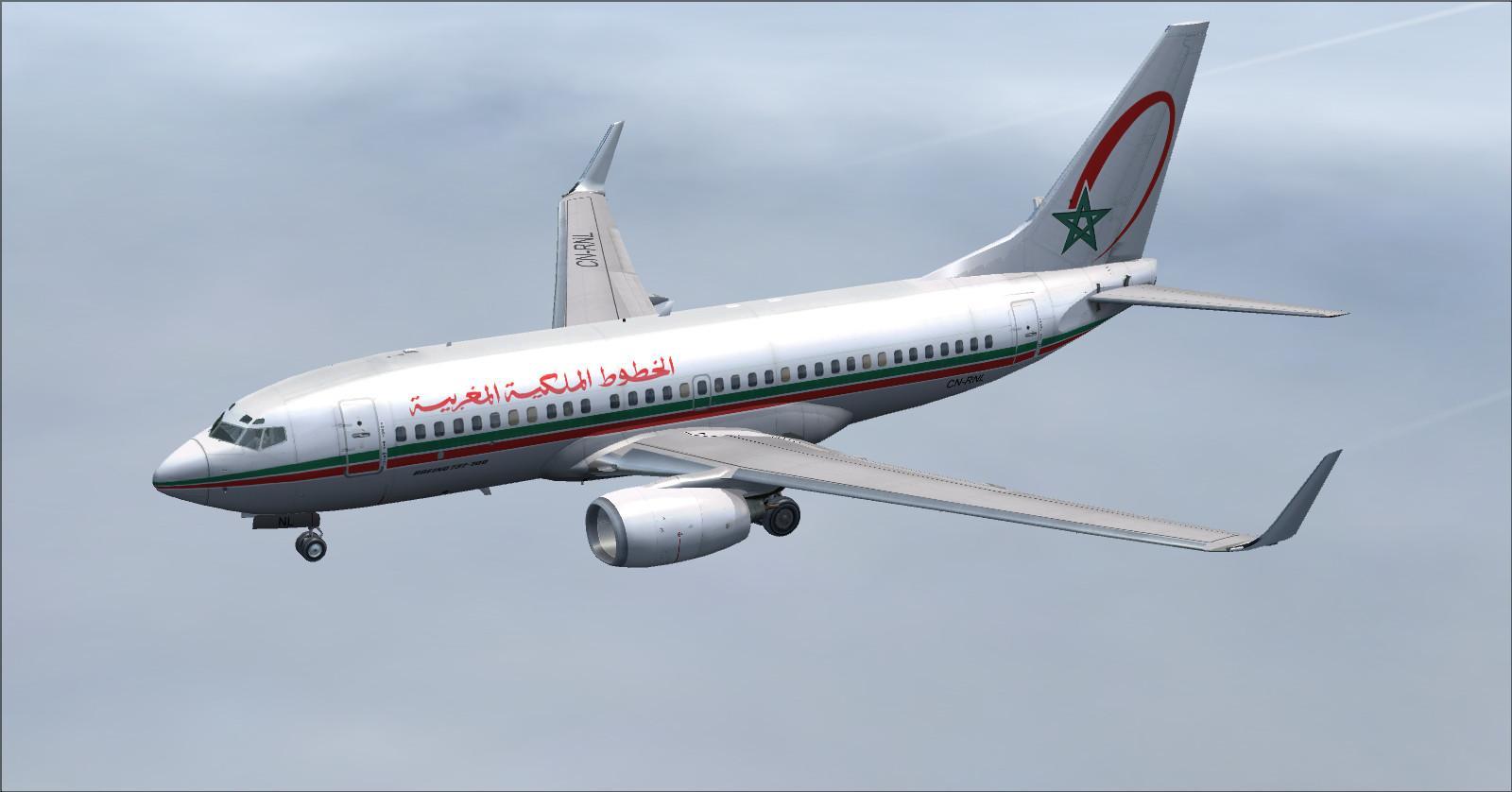 avion royal air maroc fs2004