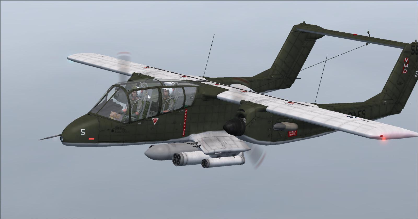 北米ロックウェルOV-10A Broncoシリーズをダウンロードする FSX - りこー