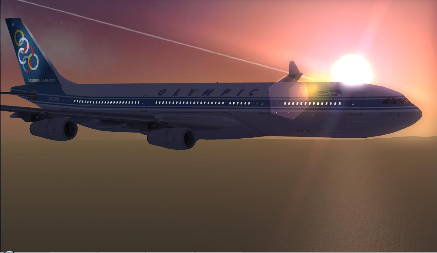 DOWNLOAD Airbus A340-300 Olympic Airlines FSX - Rikoooo