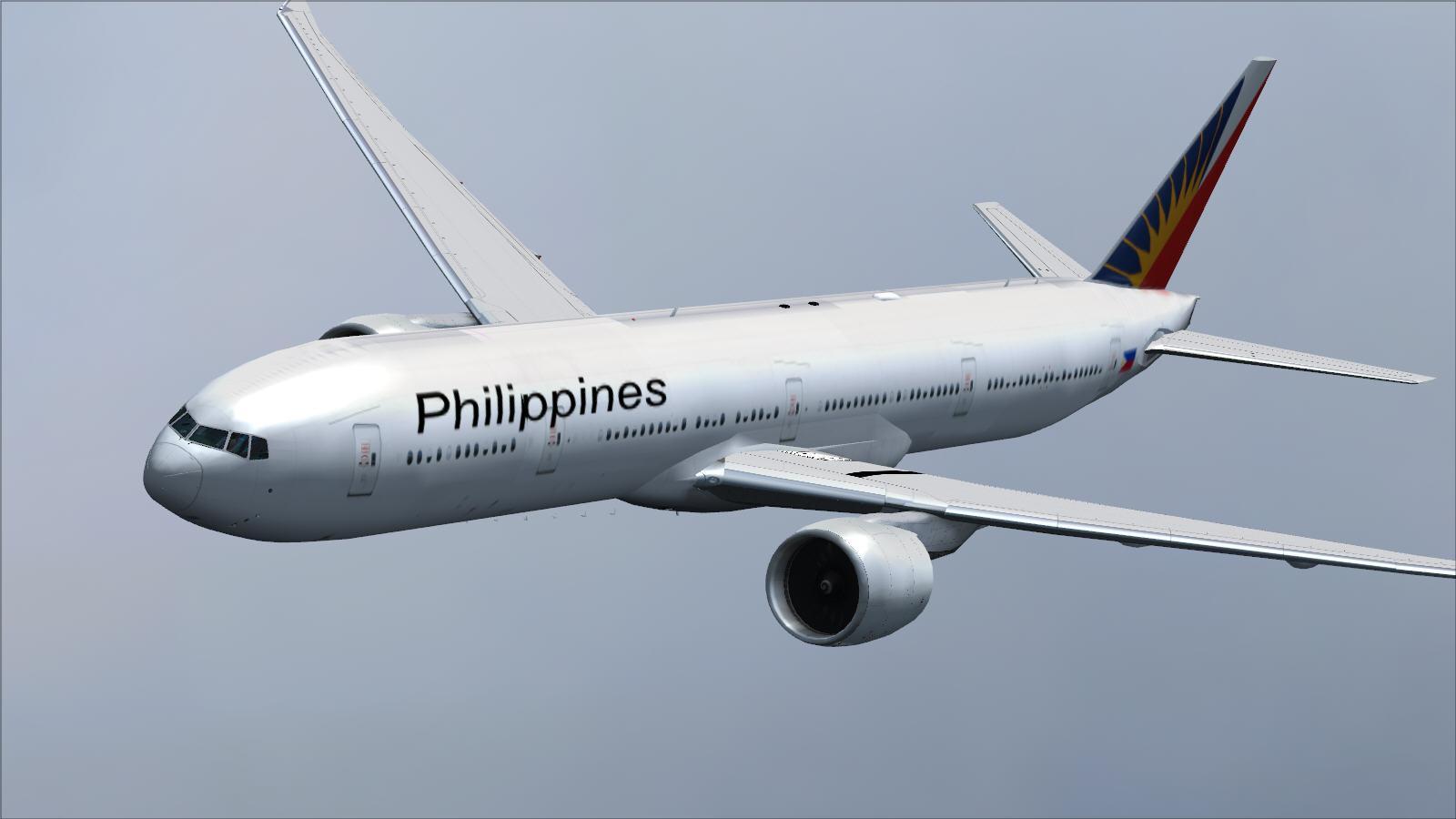 Обои 777, авиалайнер, philippines, боинг, 300, boeing, пассажирский. Авиация foto 6