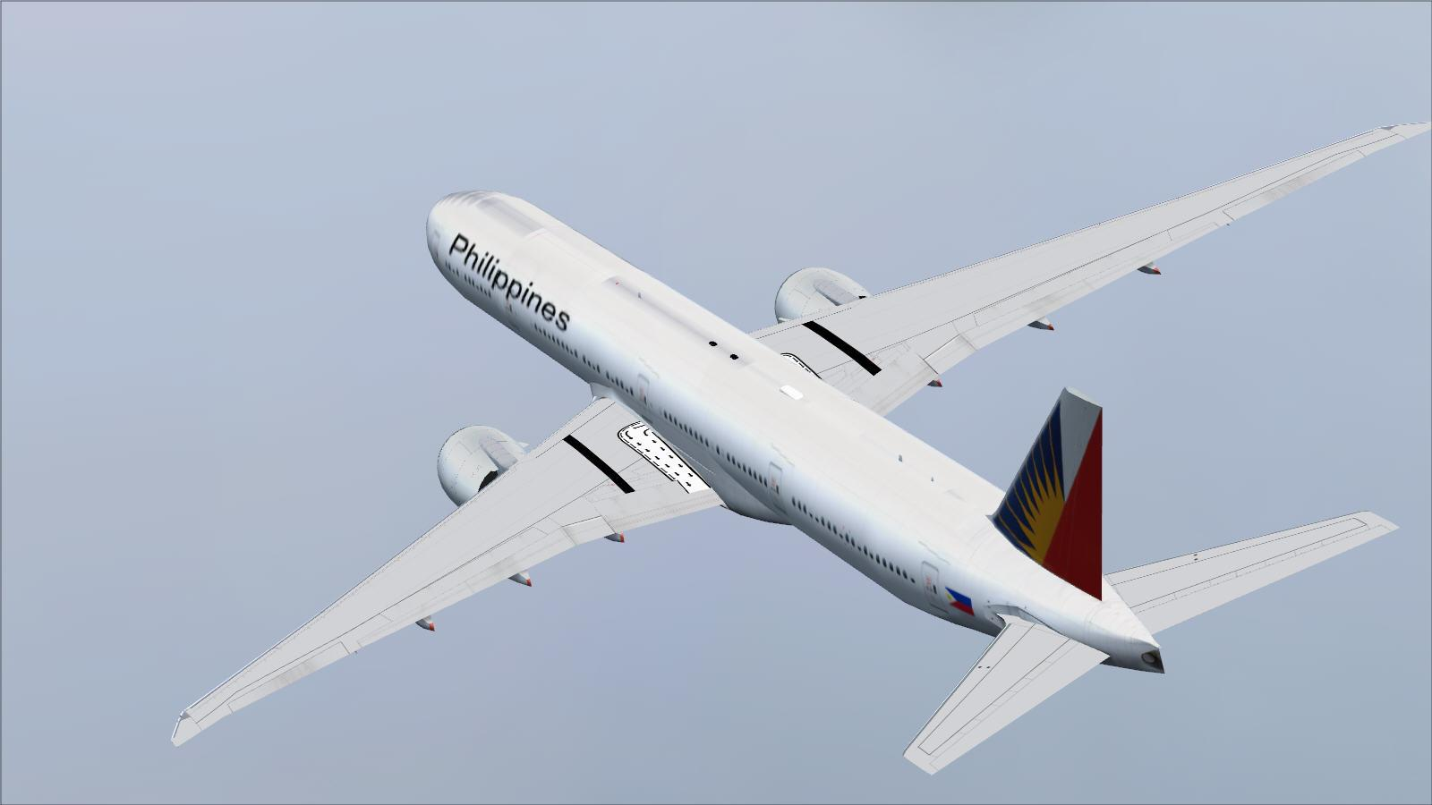 DOWNLOAD Posky Boeing 777-300ER Philippine Airlines FSX & P3D - Rikoooo
