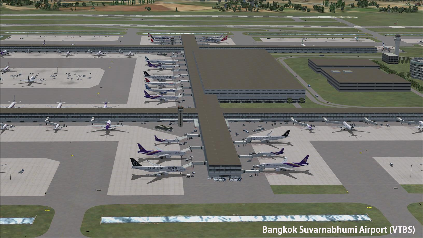 DOWNLOAD Bangkok VTBD & VTBS Airports FSX & P3D - Rikoooo