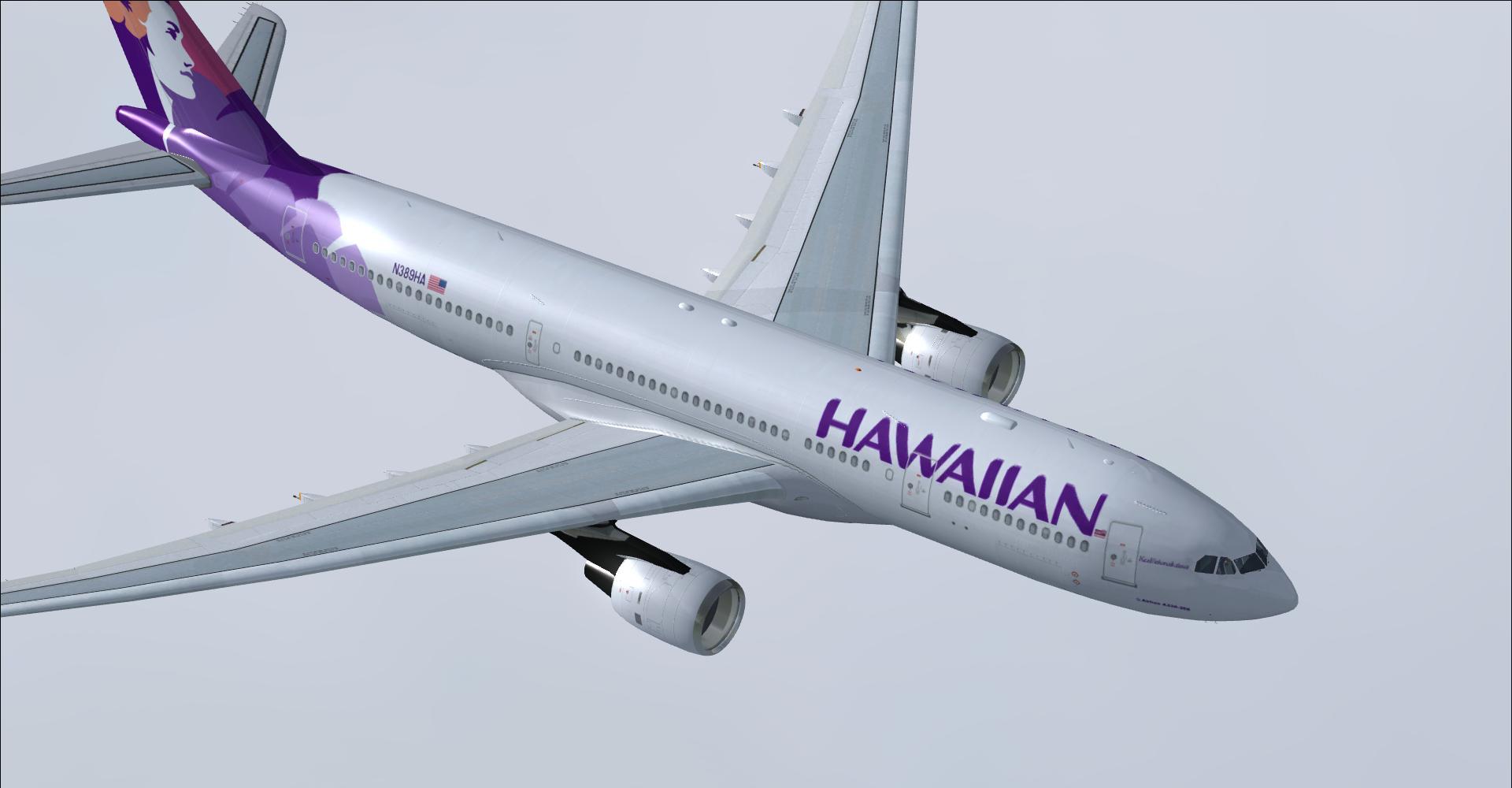 DOWNLOAD Airbus A330-200 Hawaiian Airlines FSX & P3D - Rikoooo