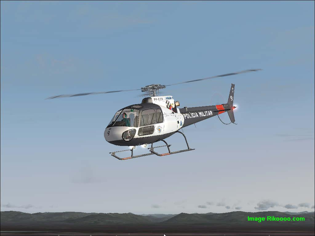 Elicottero 350 : Scarica eurocopter as 350 ecureuil policia fs2004 rikoooo