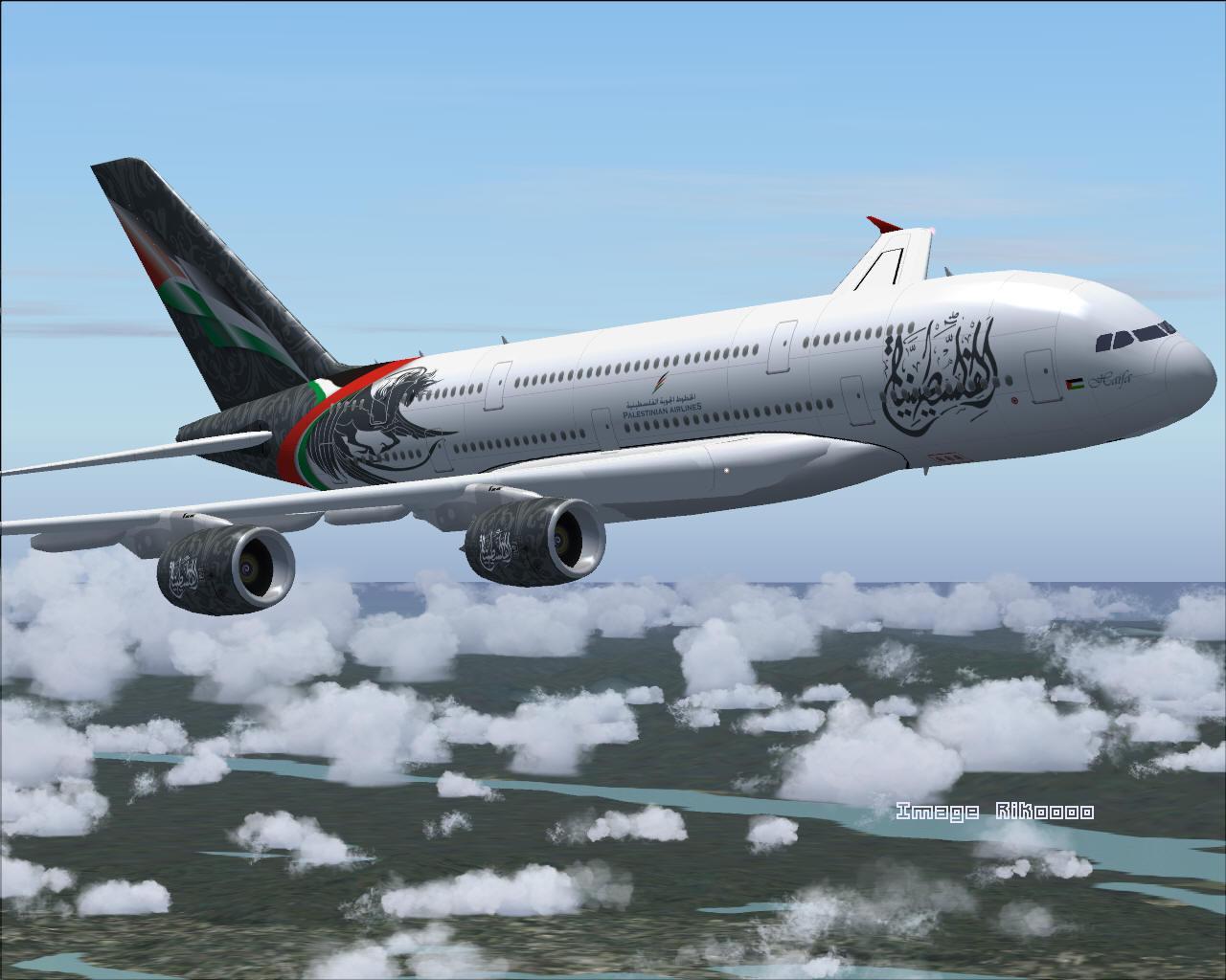 エアバスA380パレスチナ航空FS20...