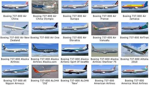 164 Repaints Collection Pack pour le B737-800 FSX & P3D