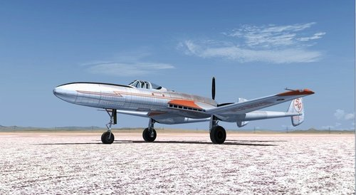 Vultee XP-54 FSX og P3D