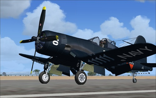 Chance Vought F4U-6 in 7 Corsair FSX  &  P3D