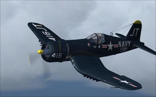 Chance Vought F4U-6 and 7 Corsair FSX & P3D
