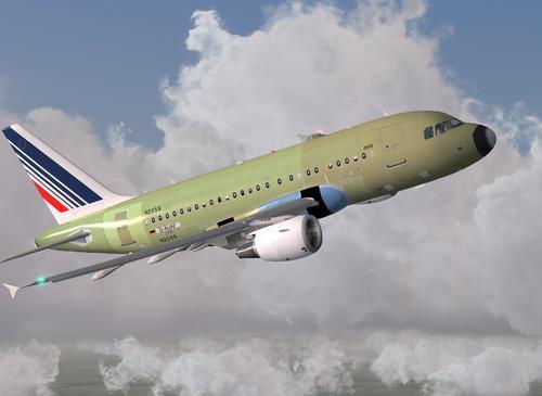 Airbus A318-111 Unpainted Air France FSX