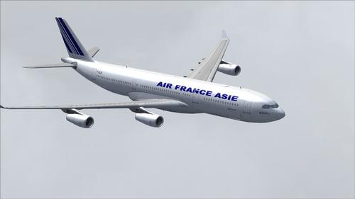 Airbus A340-200 Air France Asië FS2004