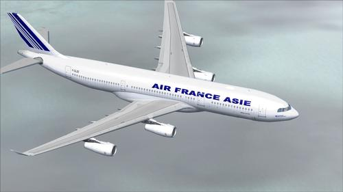 Airbus A340-200 Air France Asia FS2004