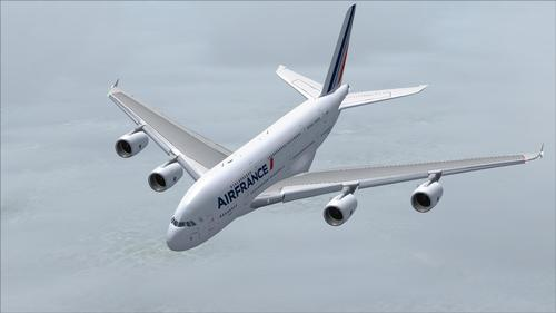 Airbus in A380 Air France FS2004