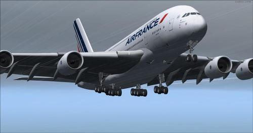 Airbus A380-800 VC Air France անդ & P3D