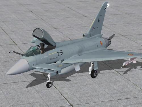 Eurofighter BLANC AlphaSim FS2004