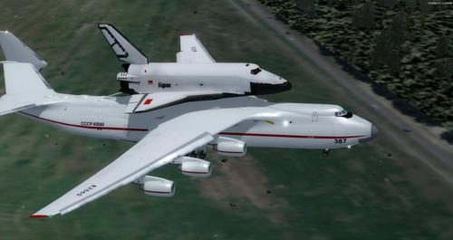 Antonov AN-225 Space Shuttle FSX  &
