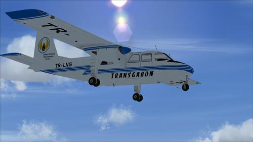 Britten Norman BN-2 Islander - Transgabon FSX