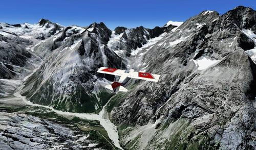 Barre des Ecrins - photoreal בתוספת רשת FSX & P3D