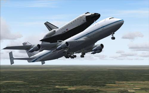 Boeing 747-100SCA + Shuttle Discovery FS2004