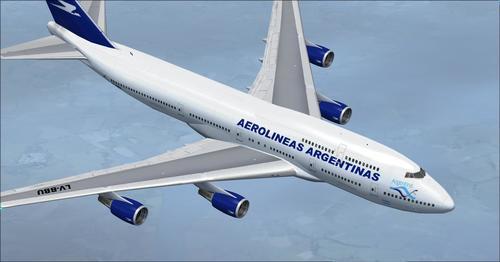 """""""Boeing 747-400 Aerolineas Argentinas"""" FSX"""