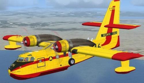 Bombardier Kanadair CL-215 FSX  &  P3D