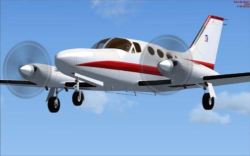 Cessna 414A Canselor PAD FSX