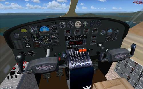 Cessna 414A kancléř PAD FSX