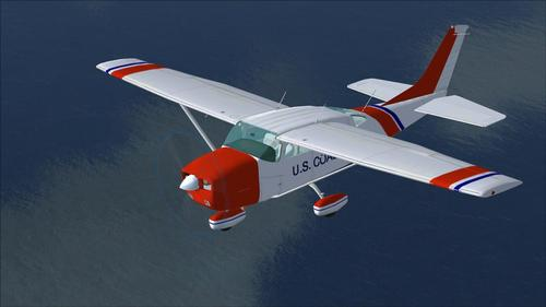 Cessna Stationary 206 Coast Guard FSX