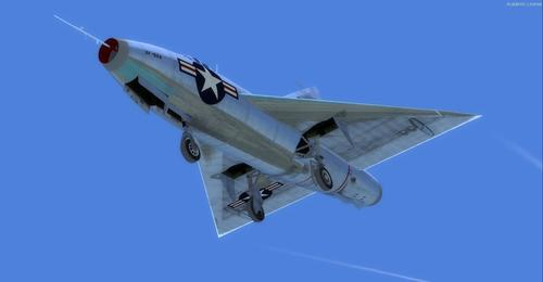 Convair Model 7002 XF-92A FSX in P3D