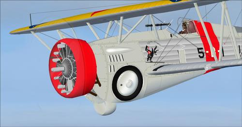 Curtiss Hawk III 68 ir BF2C-1 FSX
