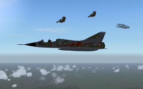 Dassault Mirage III B Poslední let FSX-A
